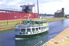 Photo of the Soo Locks in Sault Ste. Marie, MI.