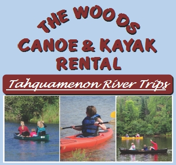 "Photo of brochure for ""The Woods 'Tahquamenon River' Canoe & Kayak Rental"""