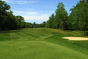 Photo of Hole 11 at Mackinaw Club, 18 hole Golf Course in Carp Lake, Michigan.