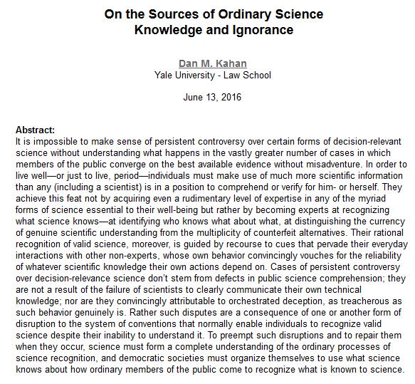 Cultural cognition thesis