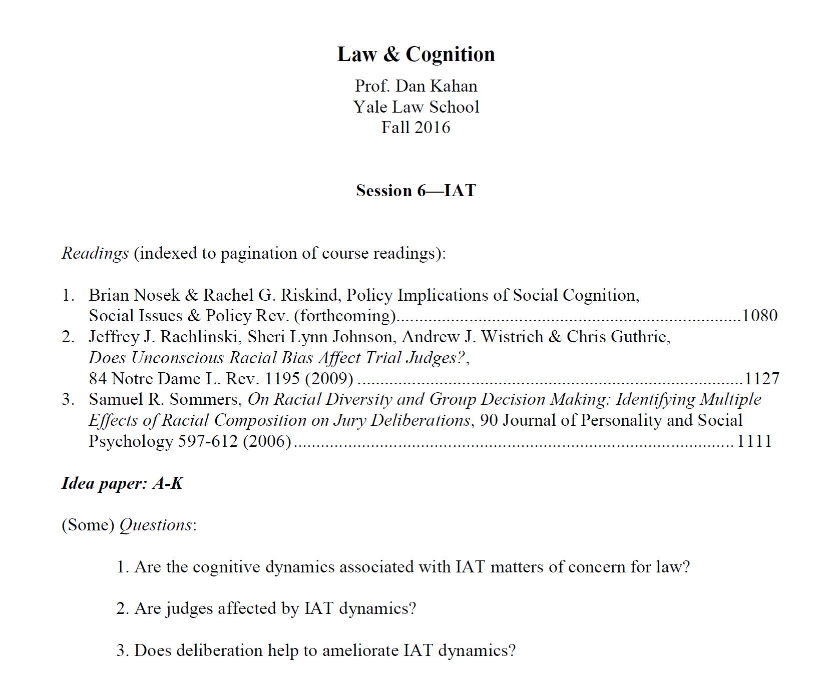 Cultural Cognition Project Cultural Cognition Blog Law