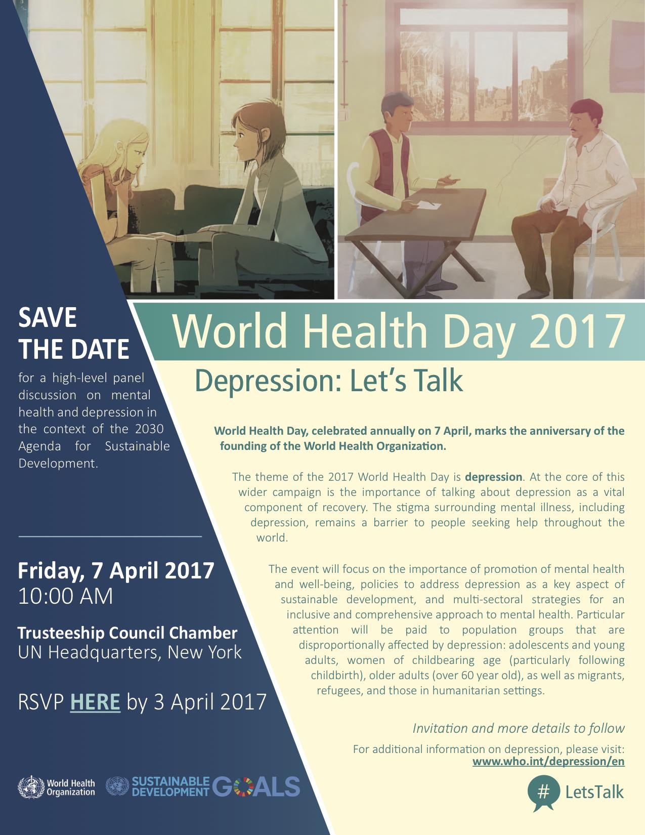 WHO World Health Day 2017