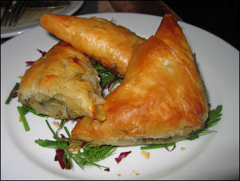 peynirli borek-phyllo turnovers with feta, leek, and spinach