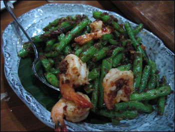 shrimp with string beans