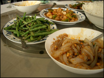 various appetizers from sichuan garden