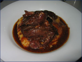 beef cheek with parsnip puree