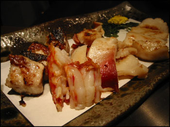 teppanyaki seafood from the ana hotel, sapporo, japan