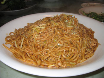 fried hand-pulled noodles
