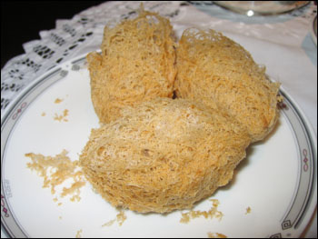 deep-fried stuffed taro ball
