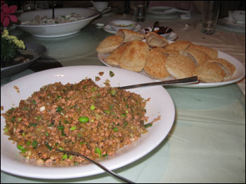 minced pork filling with pastry buns