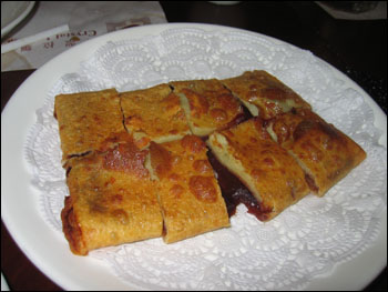 fried red bean cake