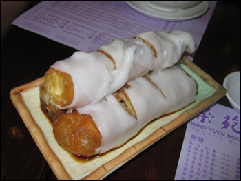 za leung - chinese donut wrapped in rice noodle