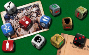 D-Day Dice Board Game Component Rendering