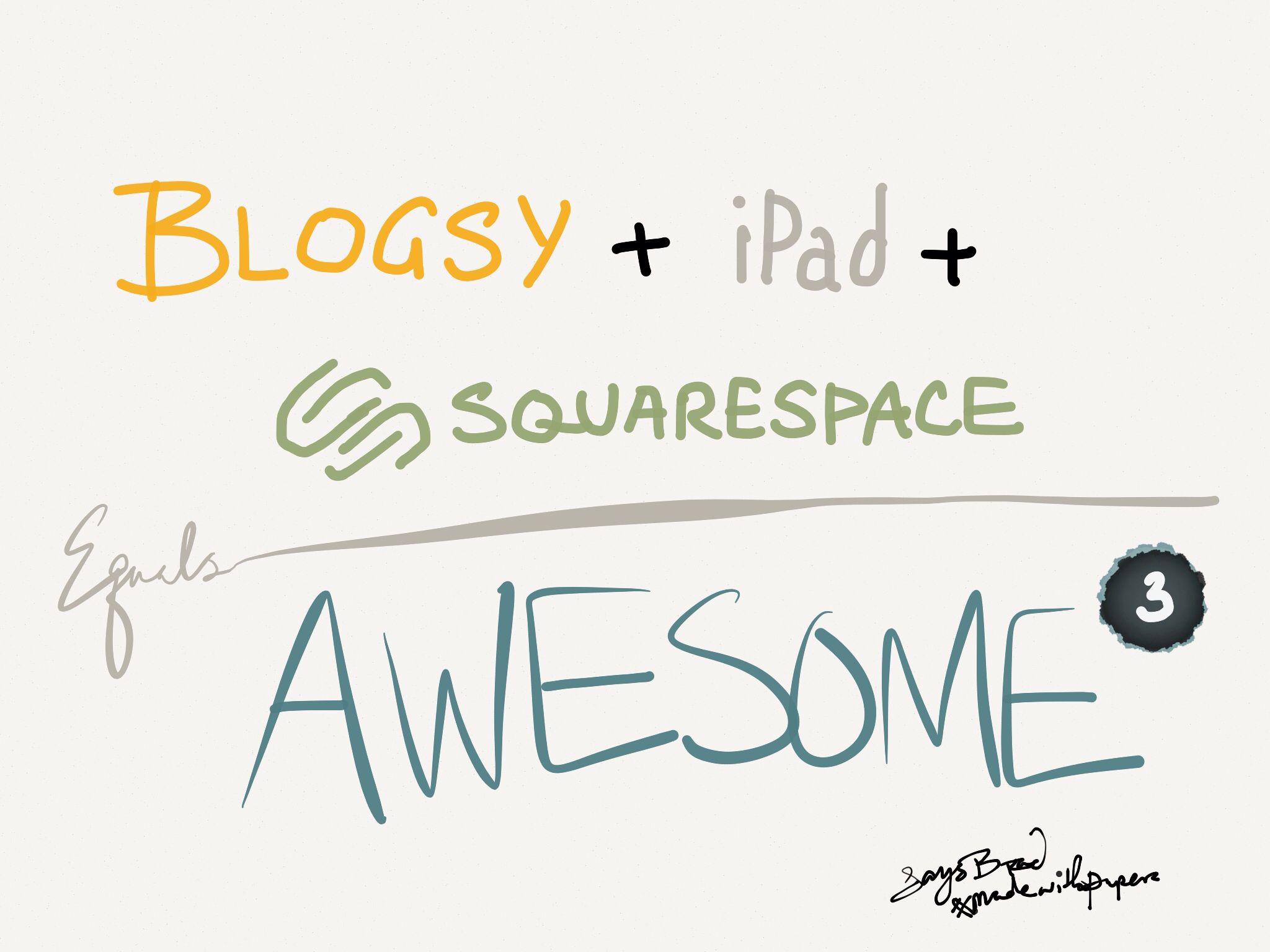 Blogsy + iPad + Squarespace = Awesome, cubed
