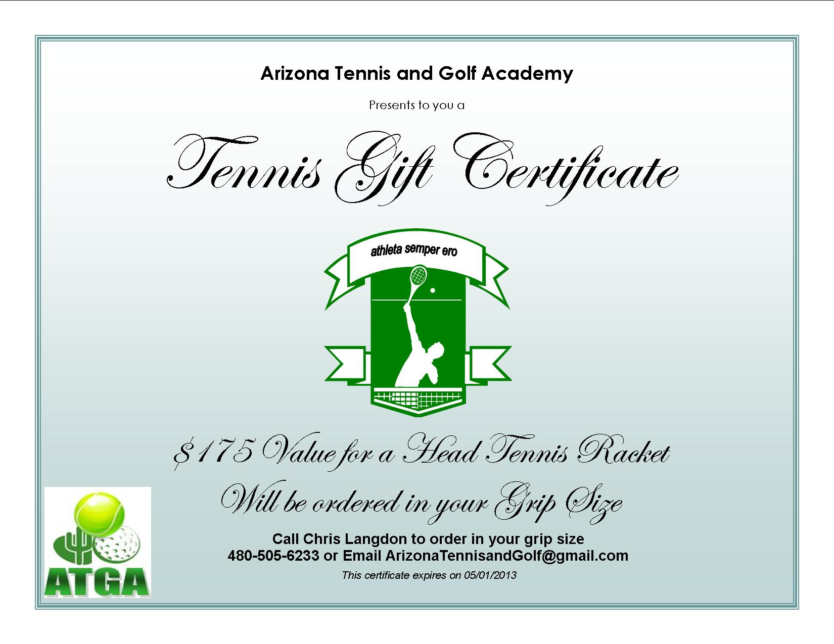arizona tennis and golf academy current tennis specials