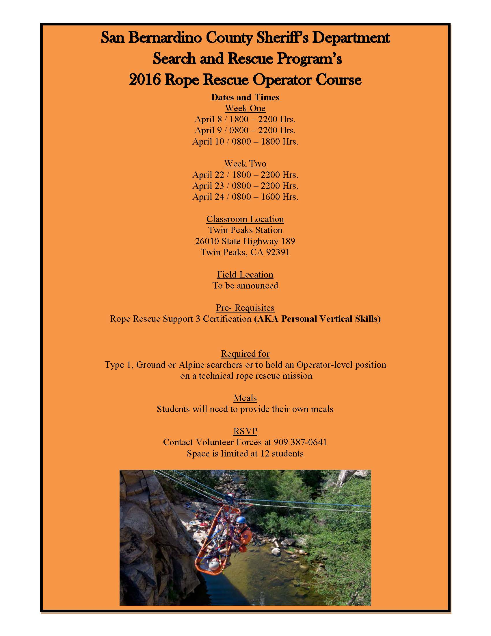 Sbsar Search Rescue News Information Rope Rescue