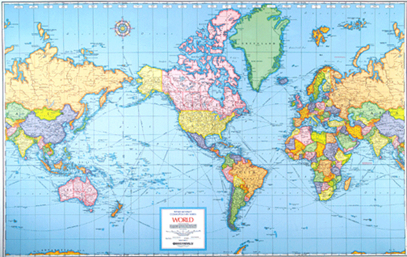 True size of africa home doug johnsons blue skunk blog in respect to africas size compare this old mercator projection in which greenland and the entire african continent are roughly the same size gumiabroncs Choice Image