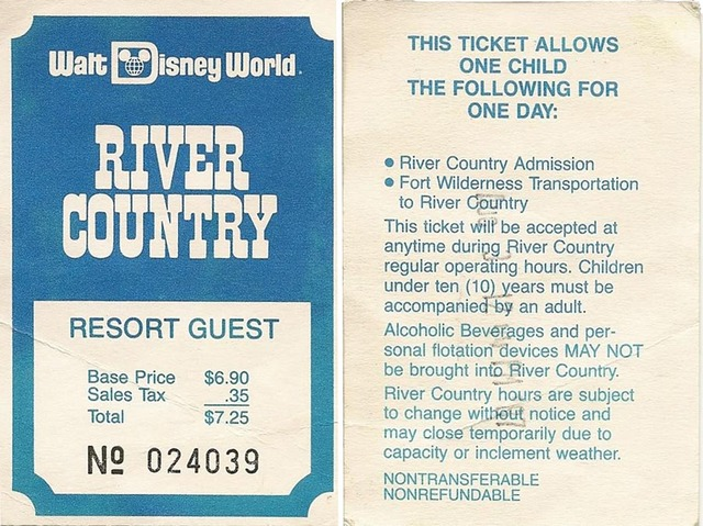 Imagineering Disney - Walt disney world river country map