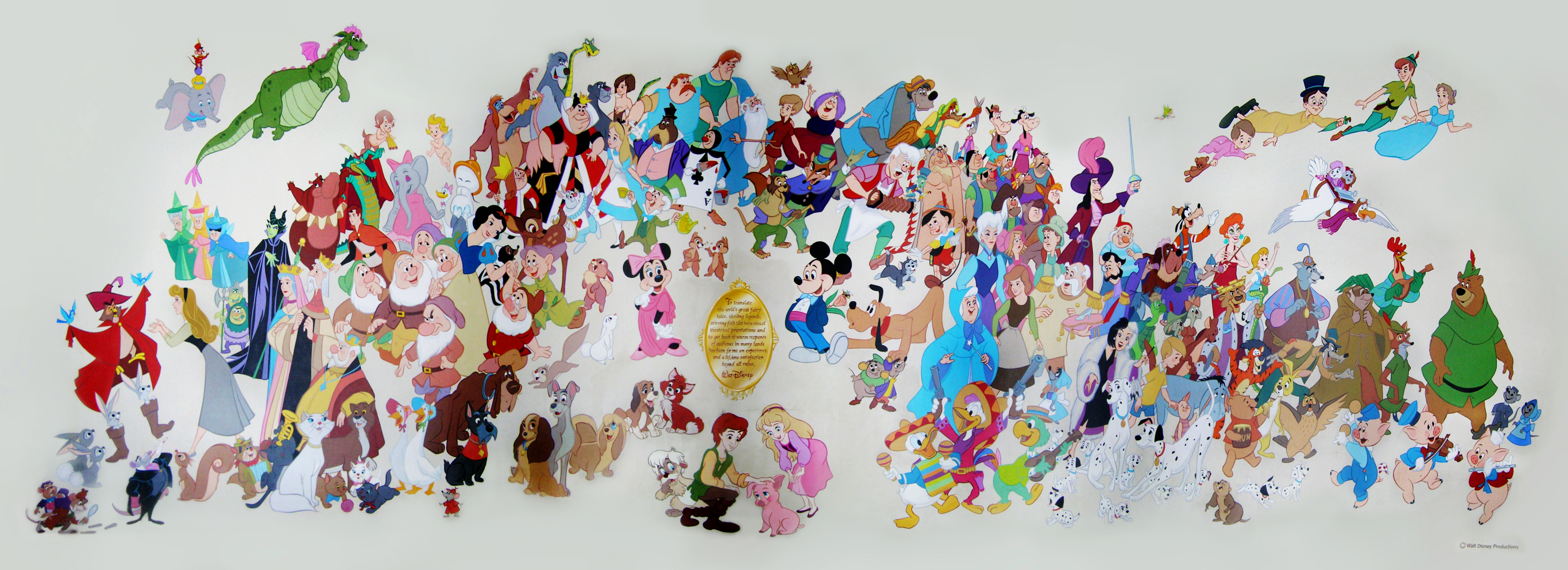 Imagineering disney for Character mural