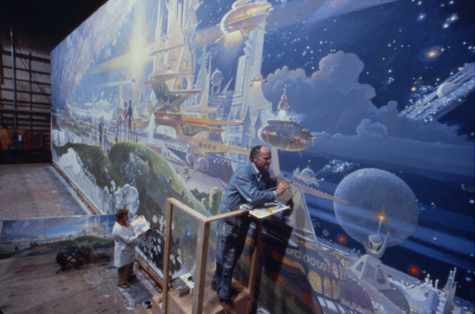 Horizons mural the prologue and the promise high res for Disney world mural