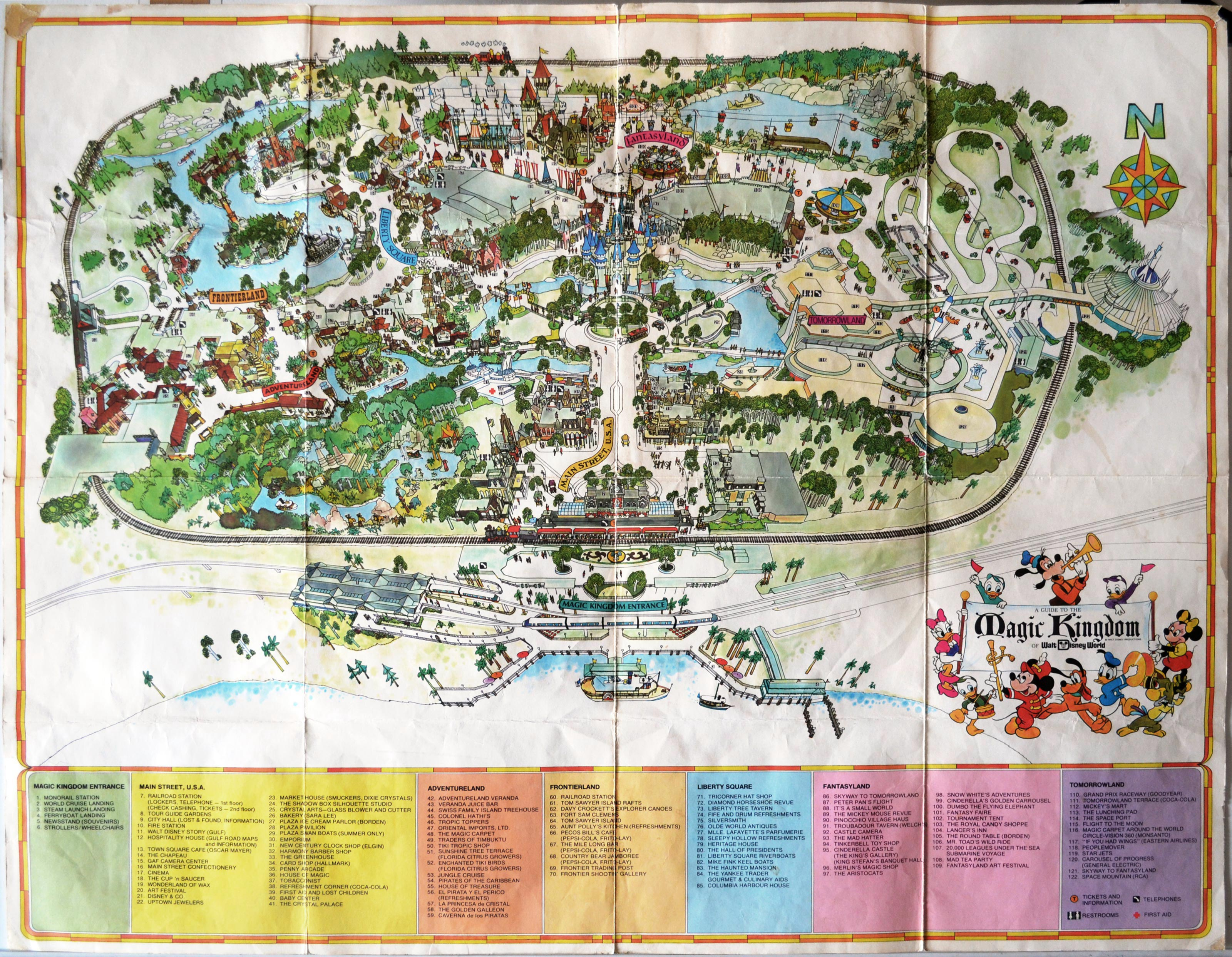 Magic Kingdom Map Found in a Main Street Wall - Imagineering ...