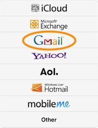 how to add gmail contacts to my ipad