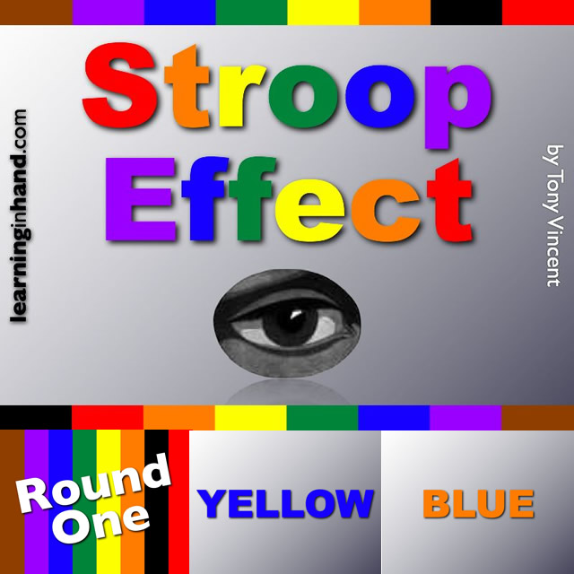 stroop affect In psychology, the stroop effect is a demonstration of interference in the reaction time of a task when the name of a color (eg, blue, green, or red) is printed in a color which is not denoted by the name (ie, the word red printed in blue ink instead of red ink), naming the color of the word takes longer and is more prone to.