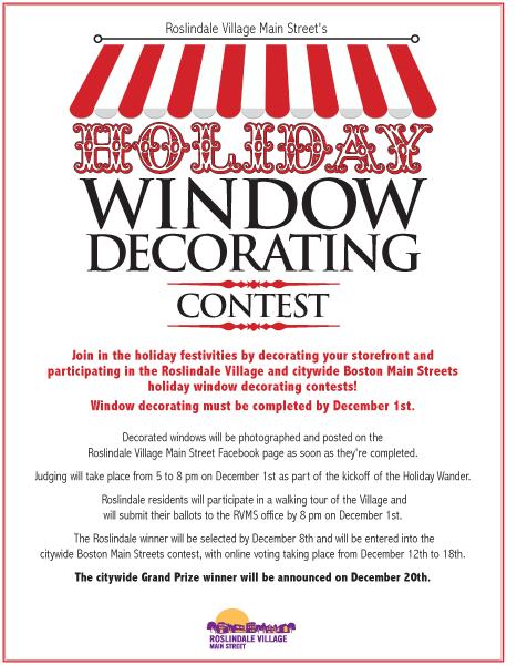 BobDWard.com   Bob D Ward Print Design U0026 Print Production   Roslindale  Village Main Streets Window Decorating Contest U0026 Kick Off For Roslindale  Village ...