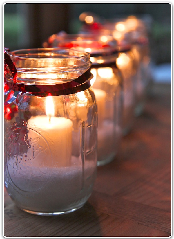 The italian dish posts homemade winter candle for Bougies decoration table