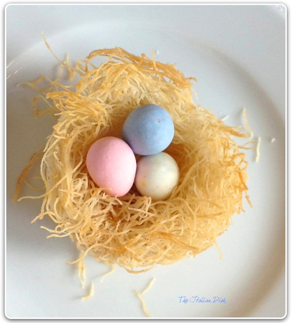 ... cute idea for Easter is making these Edible Egg Nests for your table