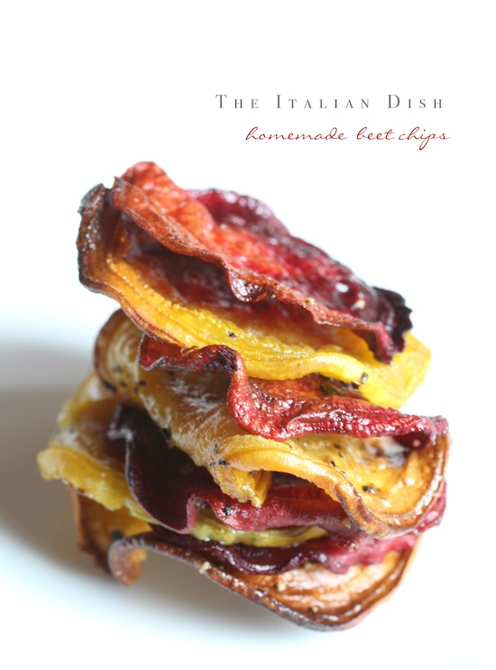 The Italian Dish - Posts - Homemade Beet Chips