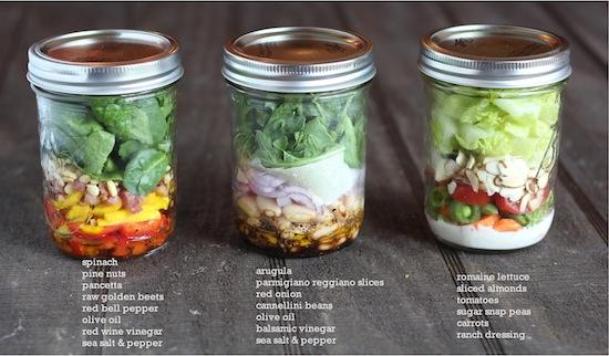 The Italian Dish Posts Salad In Jars