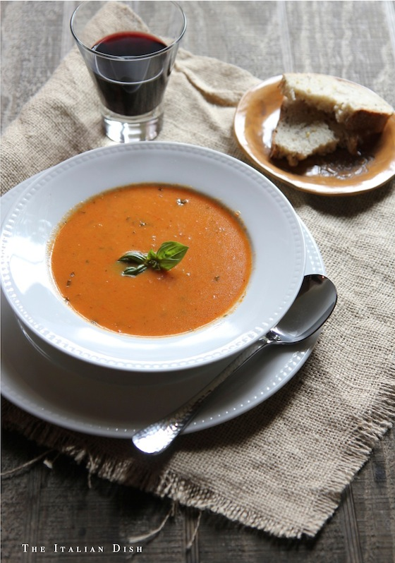 ... Italian Dish - Posts - Roasted Red Pepper Soup with Mascarpone Cheese