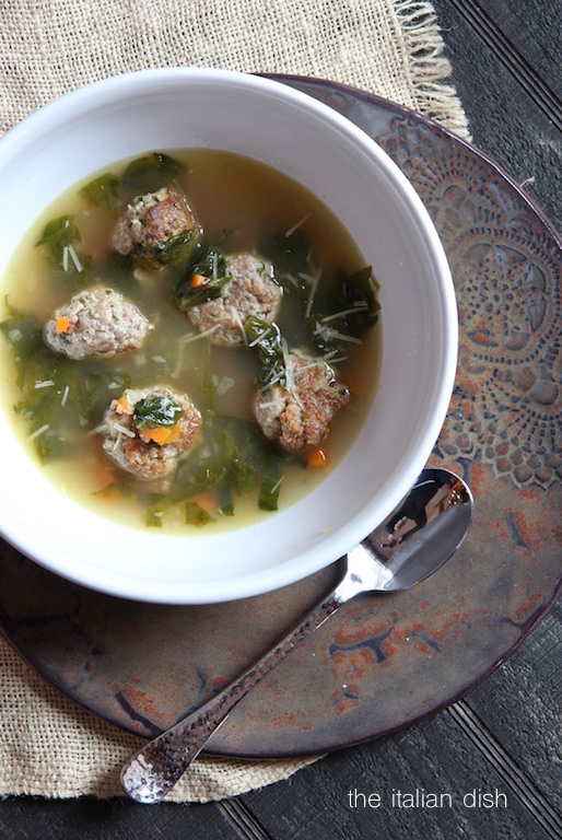 The Italian Dish Posts Meatball And Escarole Soup A K A