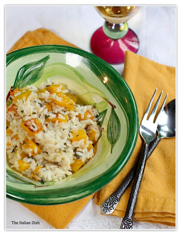 The Italian Dish - Posts - Roasted Butternut Squash Risotto with Sage