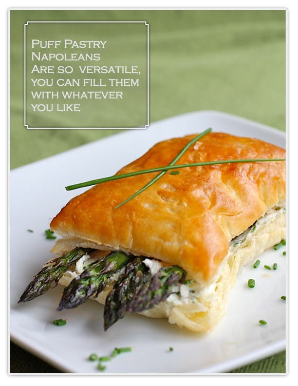 ... - Posts - Asparagus Napoleons with Goat Cheese, Chives, Lemon Zest