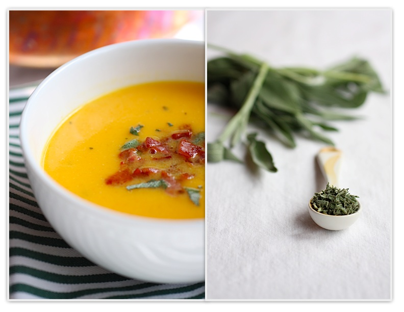 The Italian Dish - Posts - Butternut Squash Soup with Pancetta