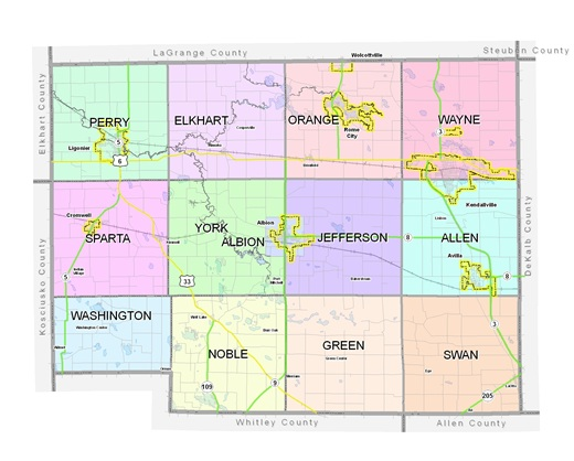 GIS Office Noble County Indiana - Counties in indiana map