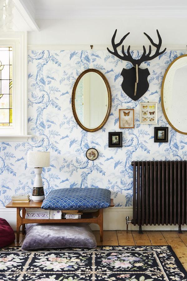 Wohnzimmer tapeten schwarz weis