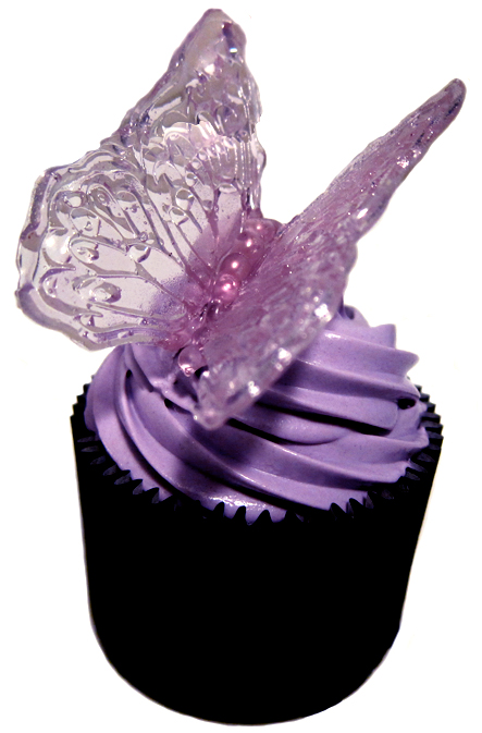 The Lone Baker Journal Sugar Glass Butterfly Cupcake