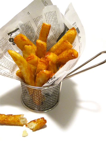 heston's triple cooked chips with their crisp glass like finish