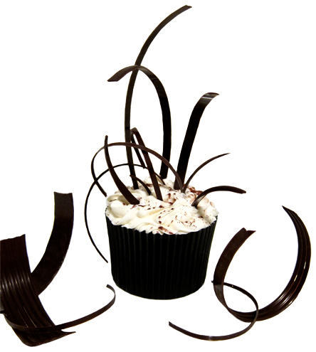 Swiss roulette chocolate curls