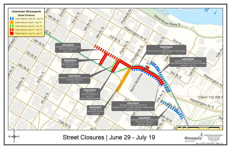 minneapolis closing streets near us bank stadium for x games minneapolis riverfront news minneapolis riverfront neighborhoods