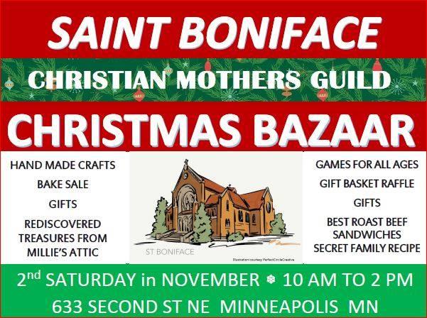 november 11 2017 saturday st boniface christmas bazaar