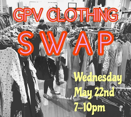 May 22, 2019, Wednesday - GPV Clothing Swap at The Golden