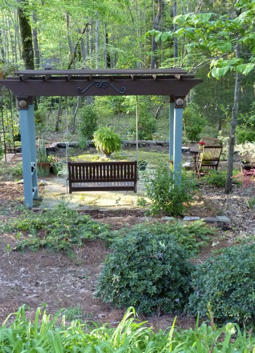 High Quality Overview Of The Arbor Garden Taken From The Patio: