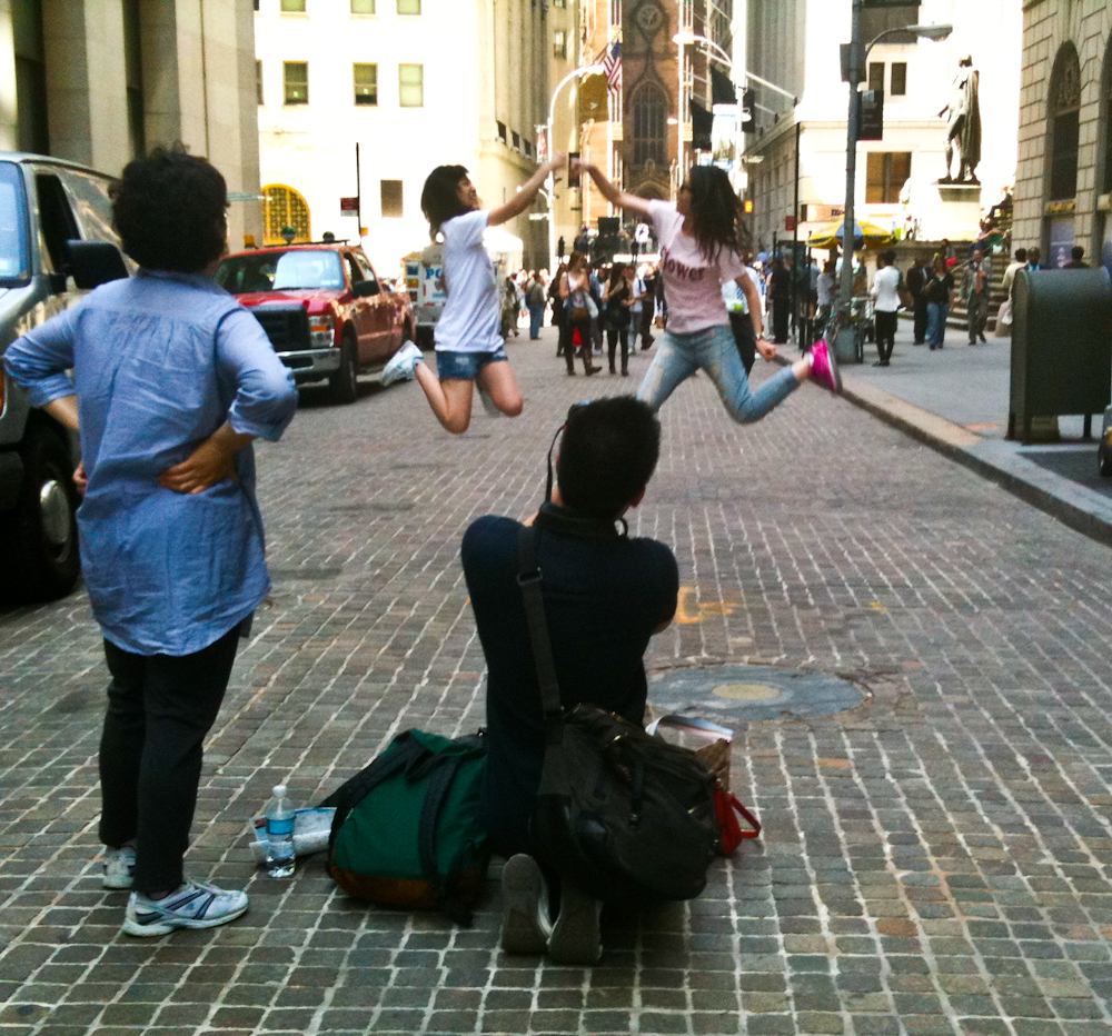Wall street people watching street observations new for People watching