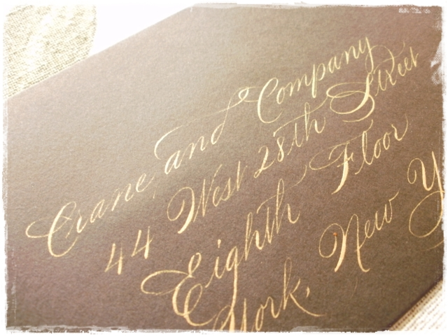 Gold Ink Calligraphy