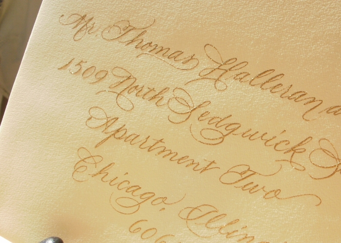 Gold Ink Chicago Calligrapher