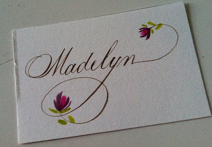 Chicago Calligrapher Place card